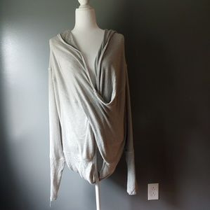 We the People Oversized Wrap Sweater